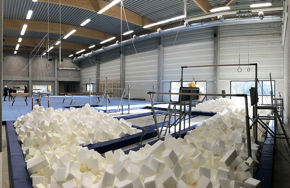 Sportcomplex Den Draver – turnhal als eerste klaar.
