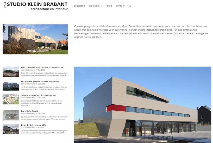 nieuwe website studio klein brabant bornem