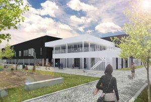 architect, bornem, Sporthal den draver zwijndrecht inkom